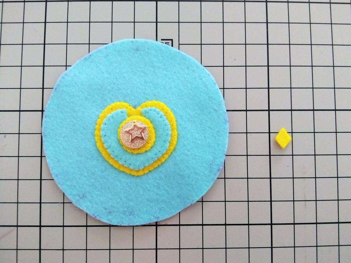 本体⑪ ダイヤパーツの縫い付け