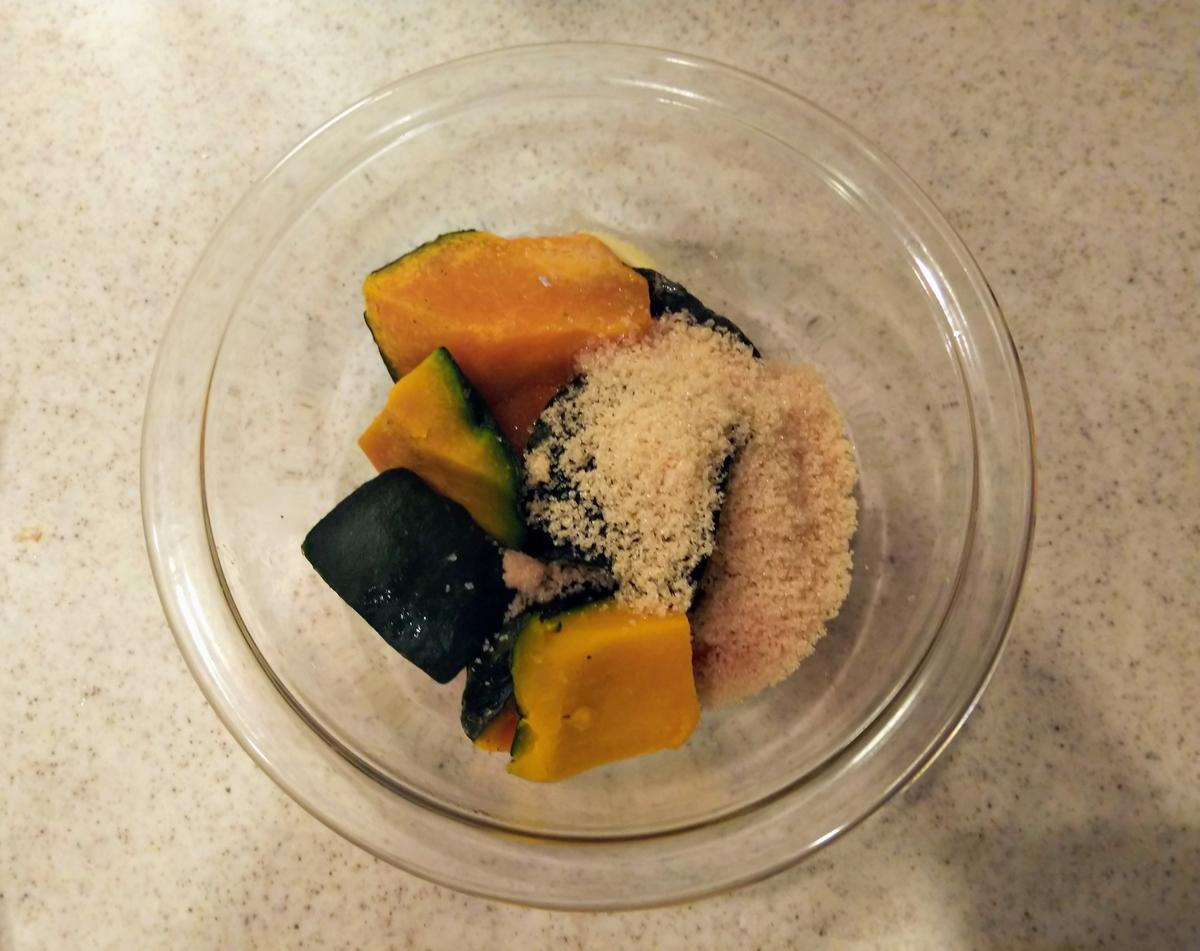 かぼちゃあんを作る