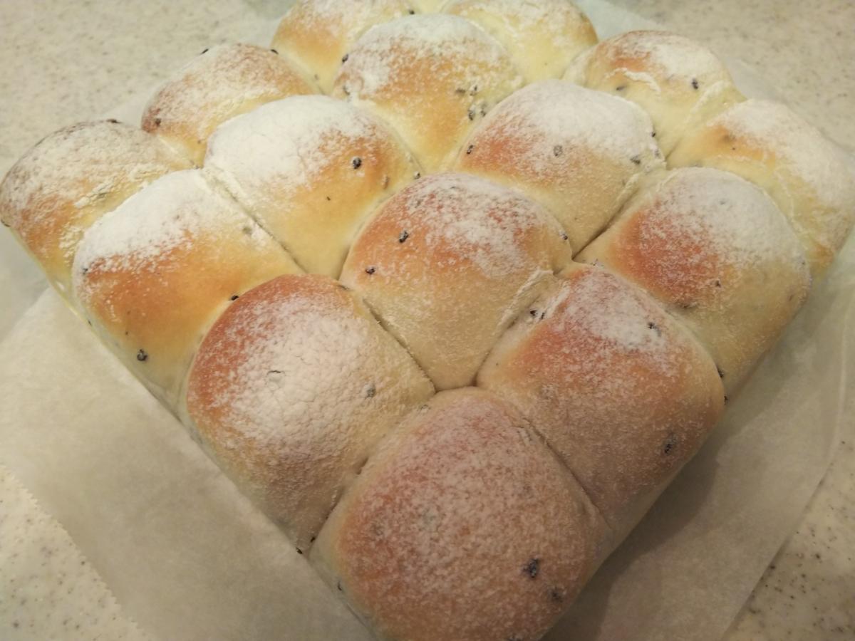ちぎりパン(かぼちゃあんパン)・改