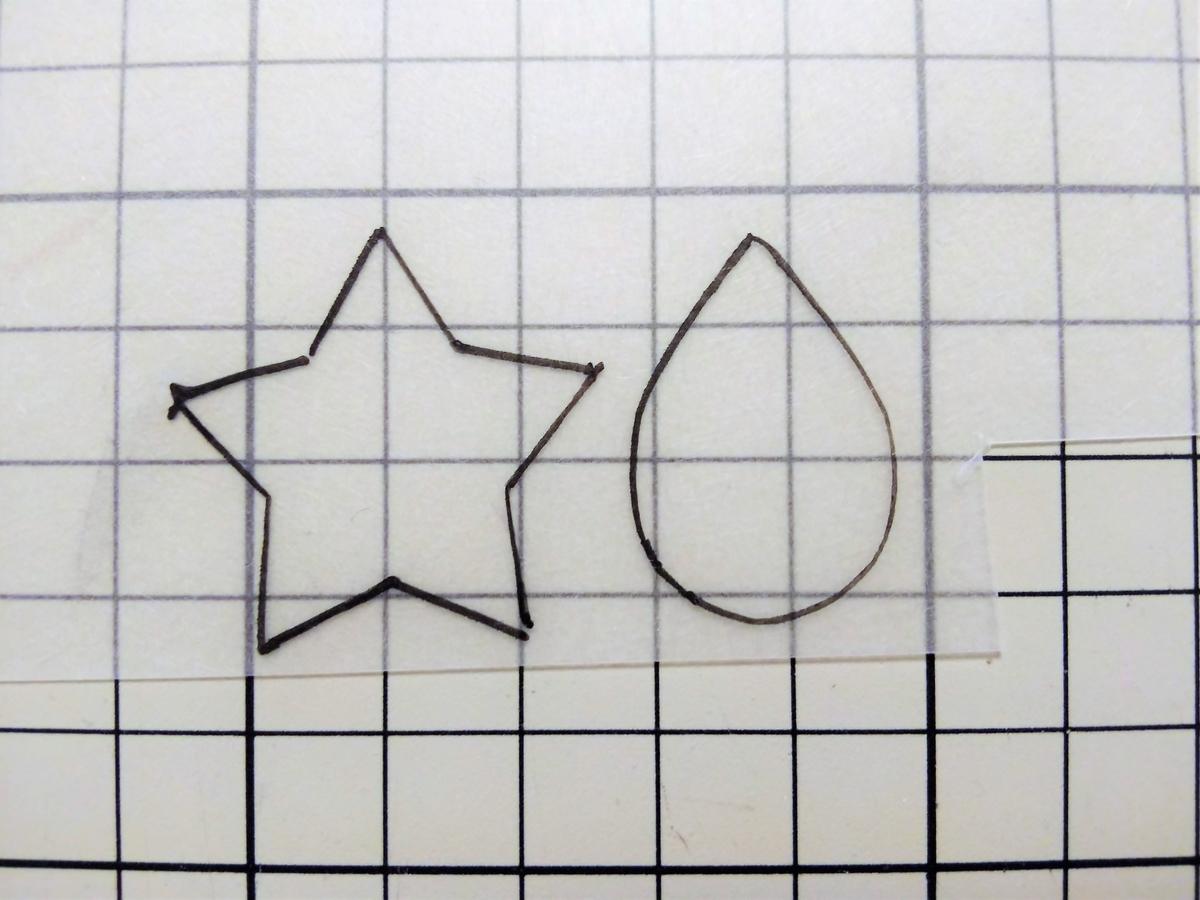 油性ペンで外枠を描く