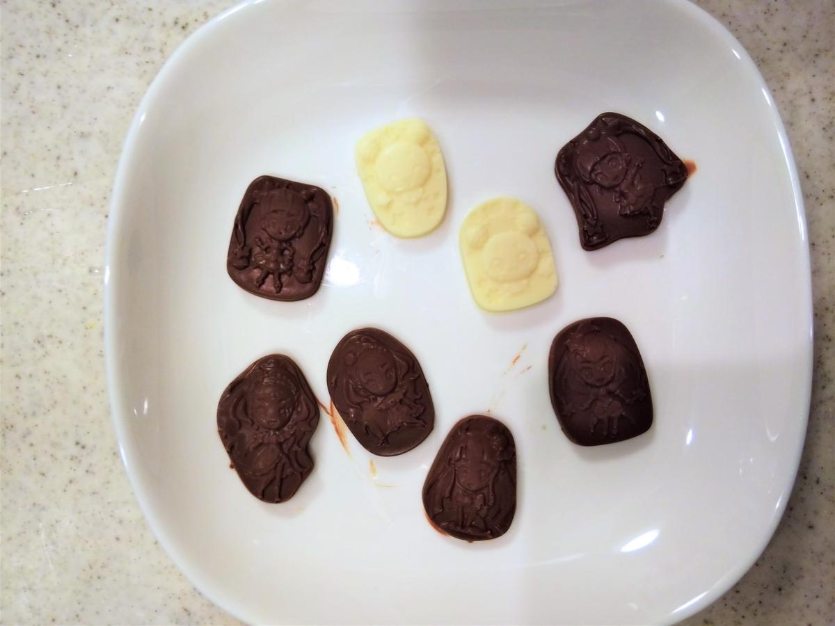『簡単プリキュアチョコレート』の完成☆
