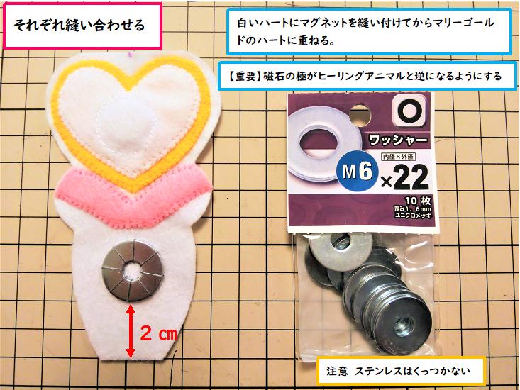 【中央②】ワッシャーも縫い付ける