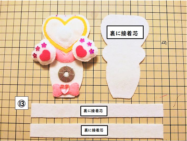 【中央⑦】側面と裏面にも接着芯を貼る