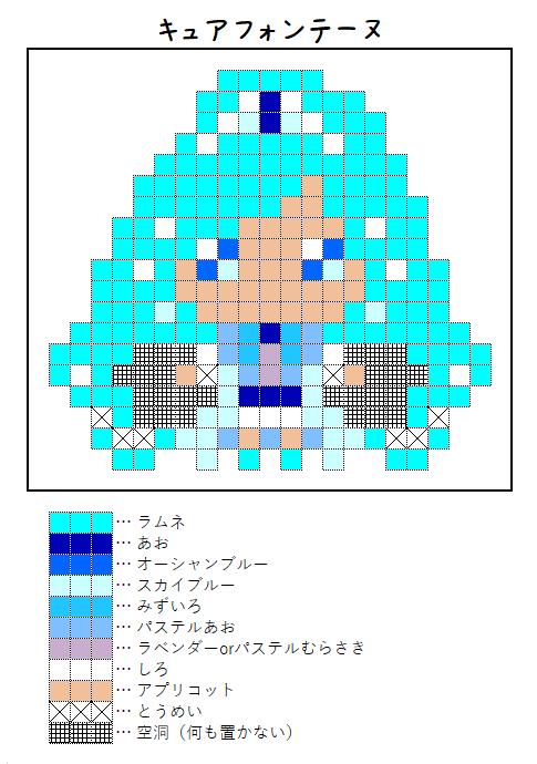 『キュアフォンテーヌ』のアイロンビーズ図案