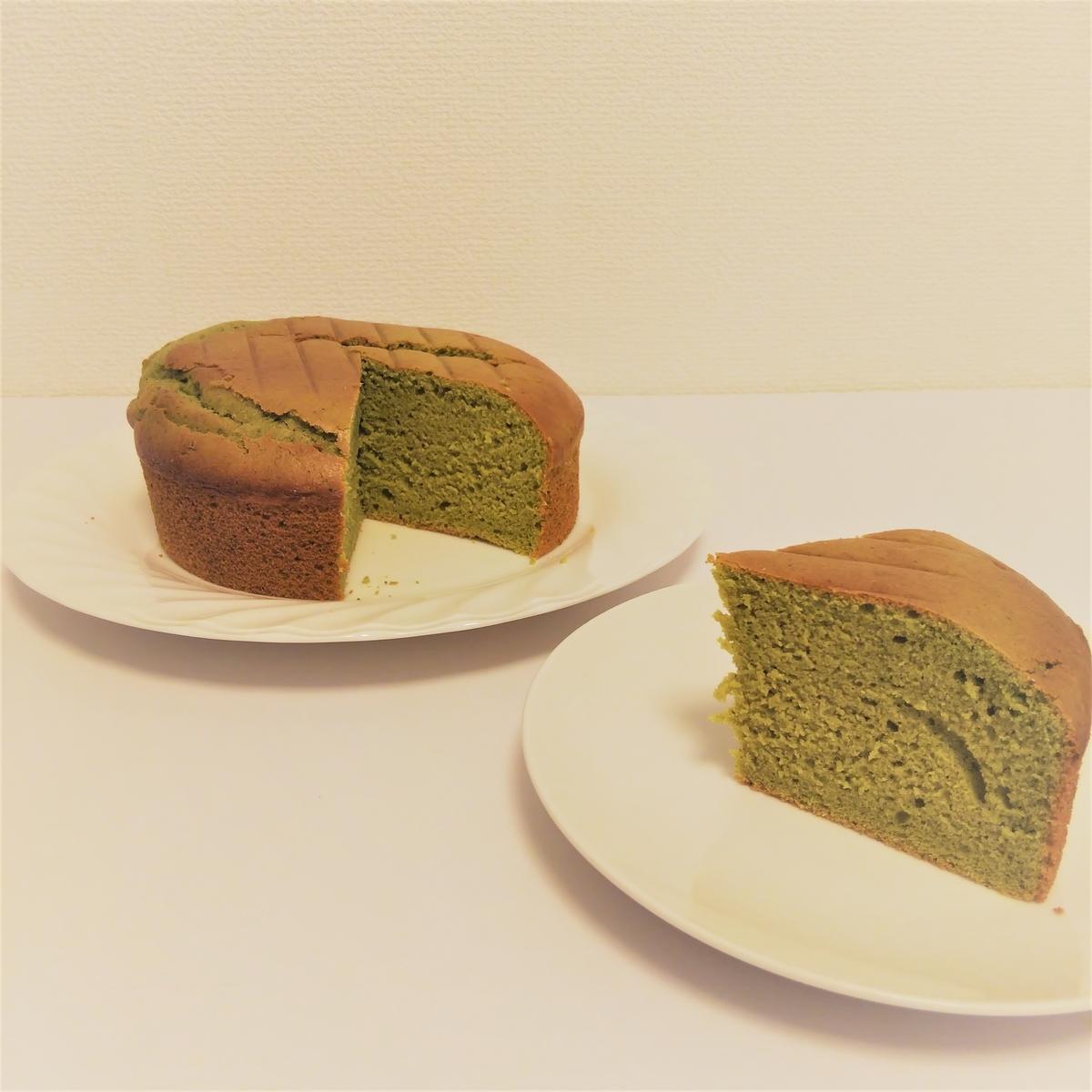 『卵白アレルギー用スポンジケーキ(抹茶味)』
