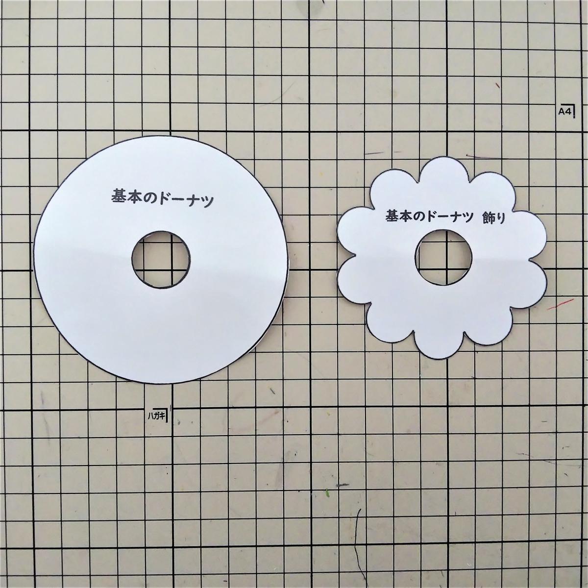基本のドーナツの作り方① 型紙を用意