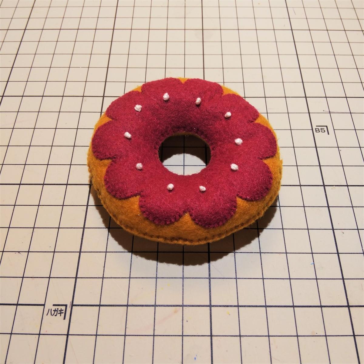 『デコレーションドーナツ』の完成