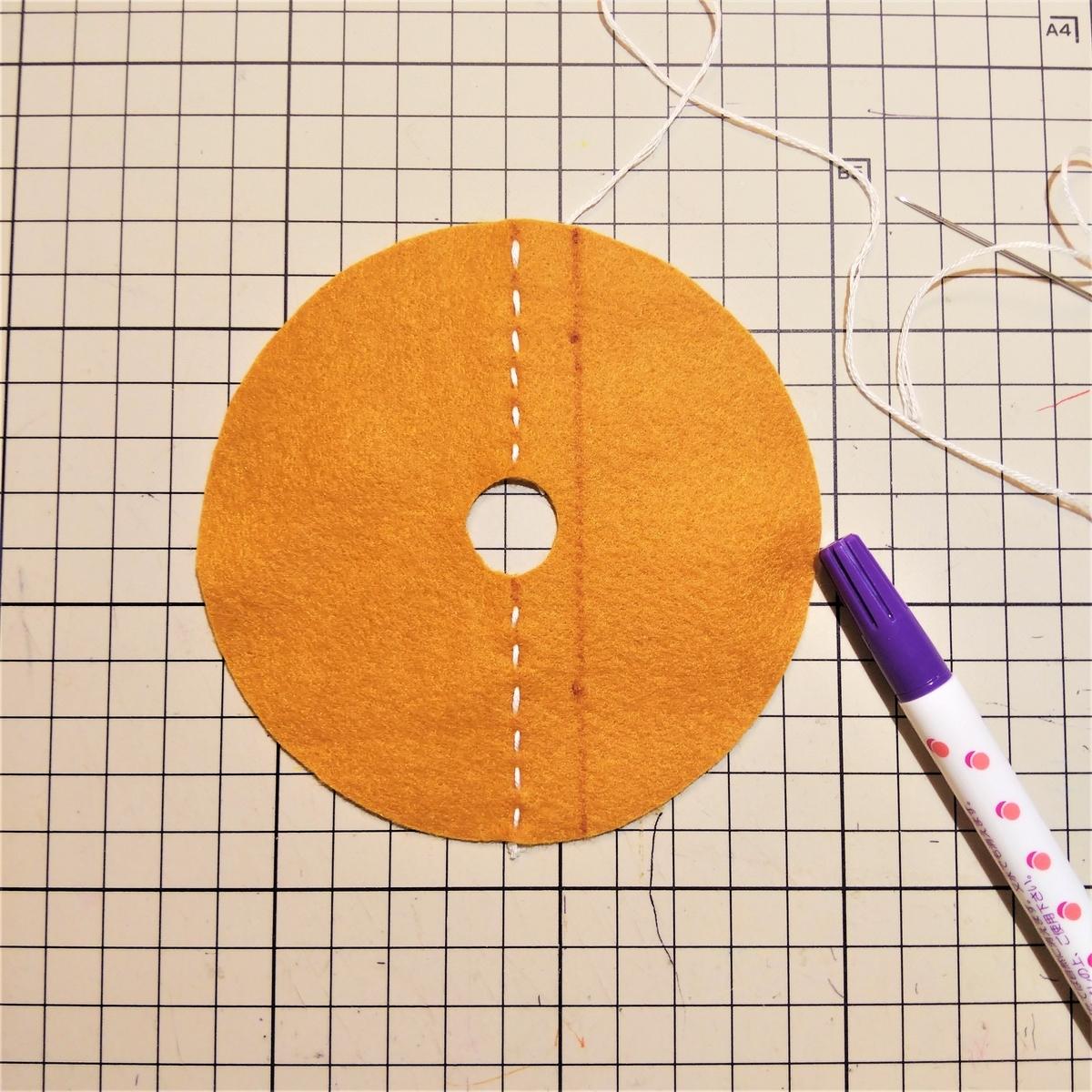 シュガーレイズドの作り方① 刺繍する