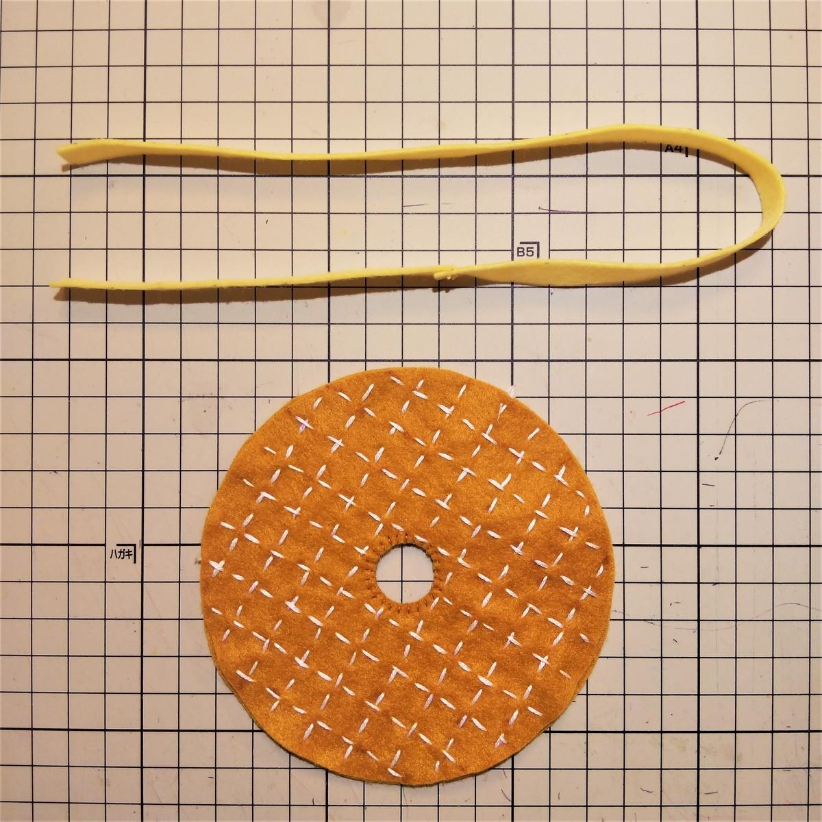 シュガーレイズドの作り方③ 穴を縫い合わる