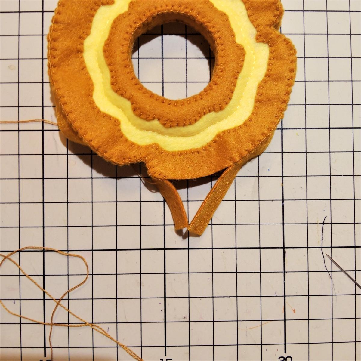 側面の縫い方② 最後4㎝くらいまで縫う
