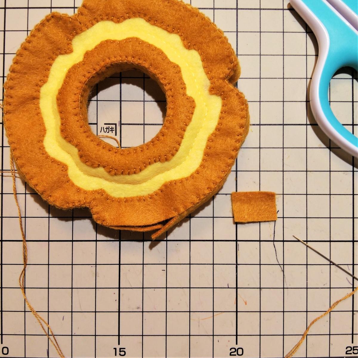 側面の縫い方③ 長さを切って調節する
