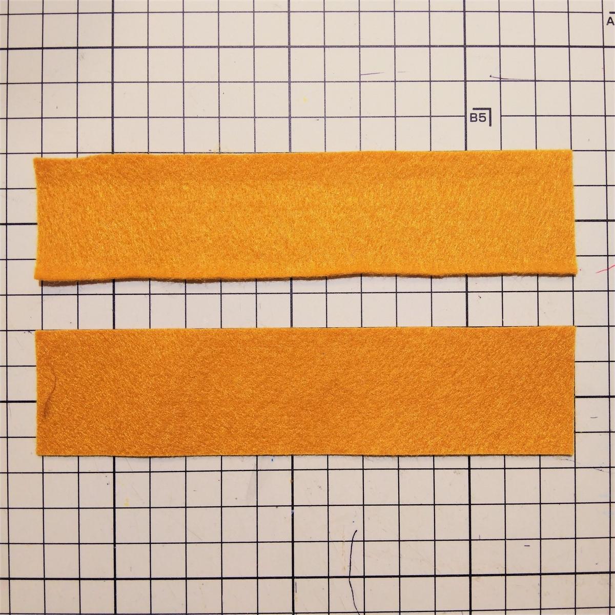 フェルトのマフィンの作り方② パーツ③を2つ用意する