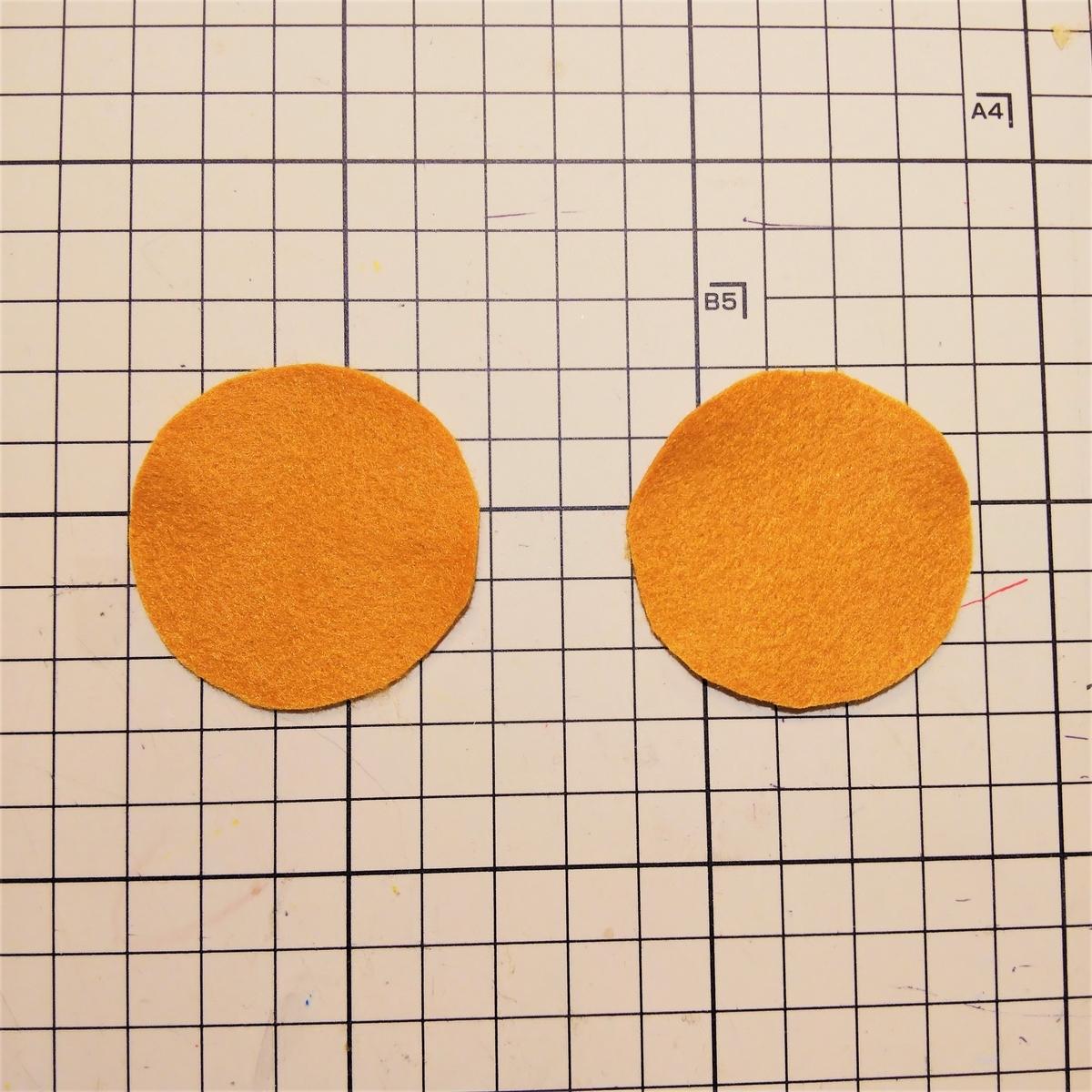 フェルトのマフィンの作り方⑩ パーツ④を用意する