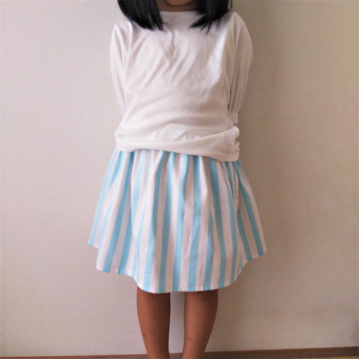 こどもスカートを作ってみた④