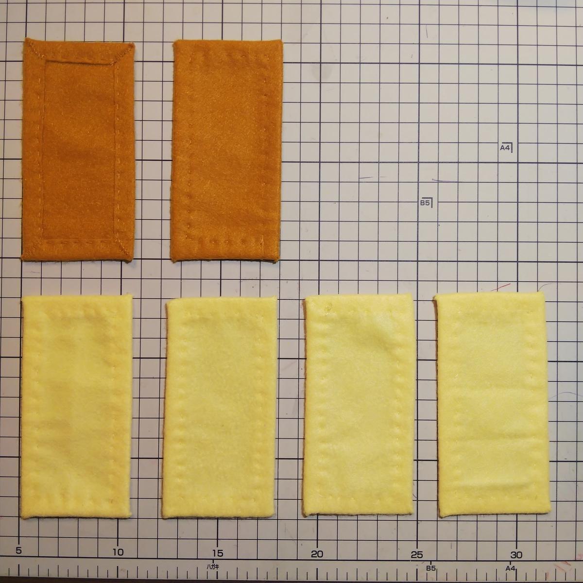 フェルトの『パイ』の作り方⑥ 全部で6つ作る