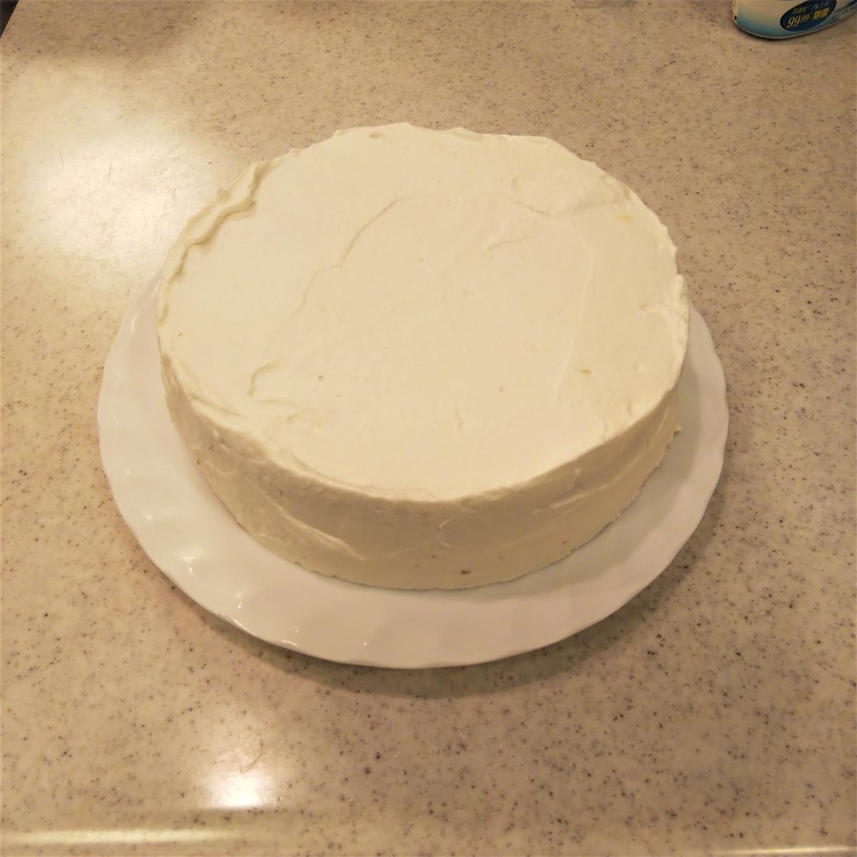 キャラケーキを作ってみた⑦ ケーキをナッペしておく