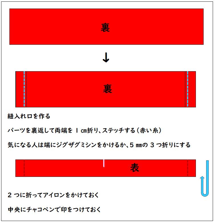『モンスターボール風ナップサック』の作り方③