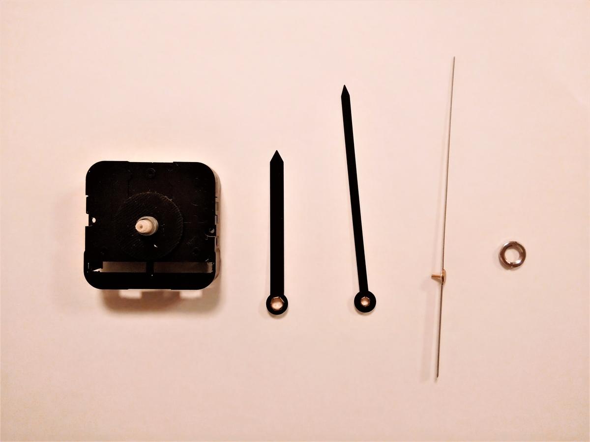 プラバン時計② 本体と針のみ使用