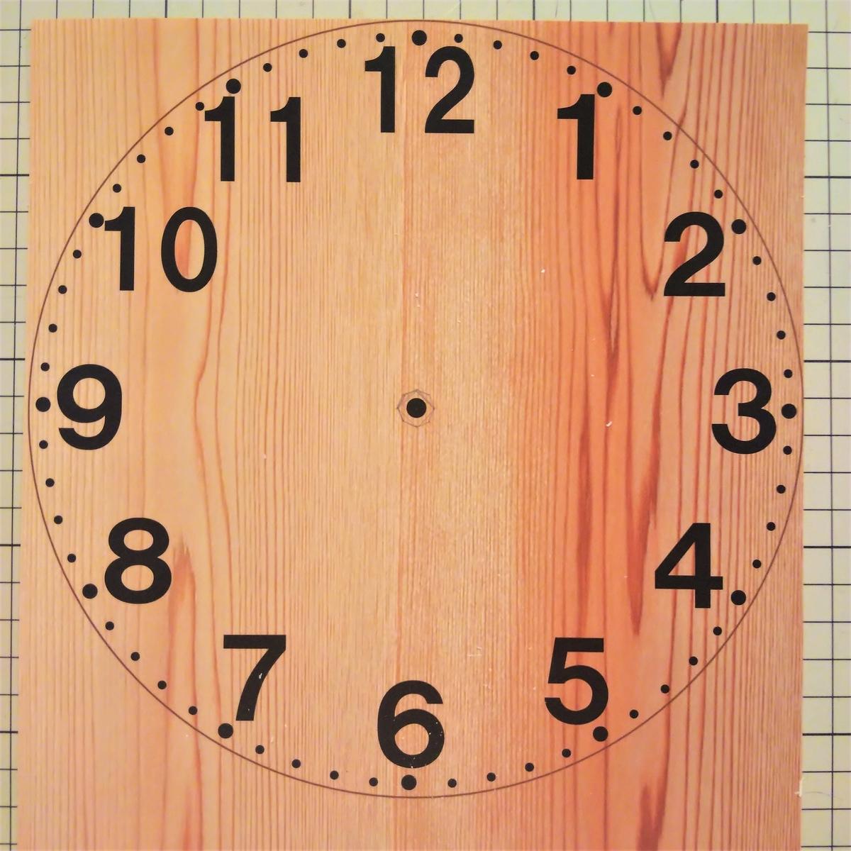 プラバン時計③ 文字盤を作ってプリントする