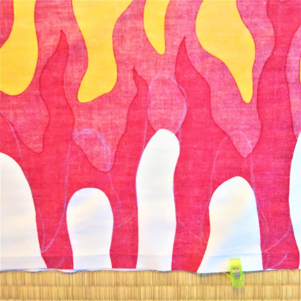 煉獄さん風マント 10㎝上に模様を描きなおす
