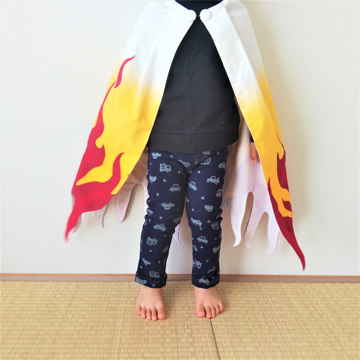 手作り『煉獄さん風マント』を着てみた