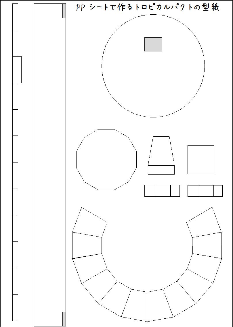 PPシートで作るトロピカルパクトの型紙