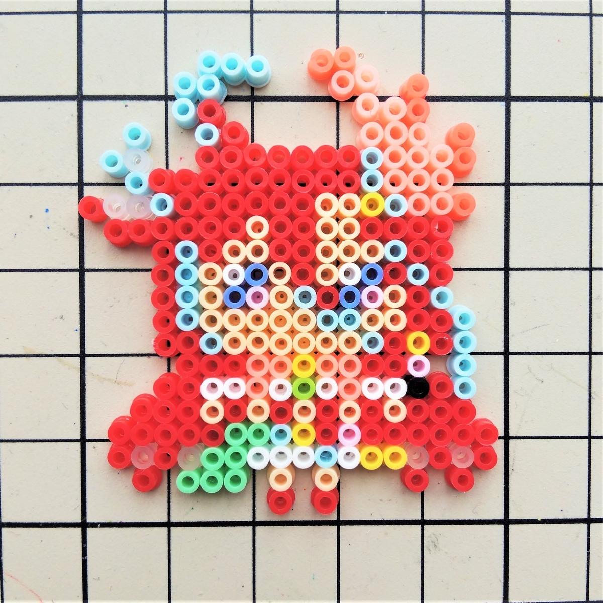『キュアフラミンゴ』をアイロンビーズで作ってみた