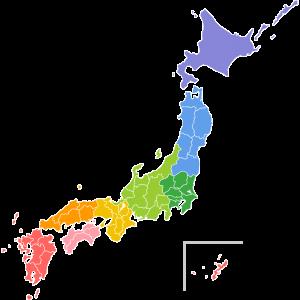 日本地図(フリー素材)