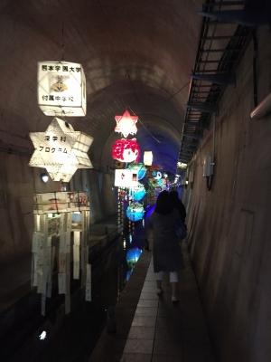 高森湧水トンネル内部