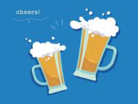 切れのいいビールで乾杯