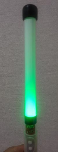 ペンライト緑の光