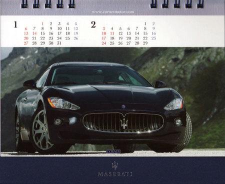 マセラティ卓上カレンダー