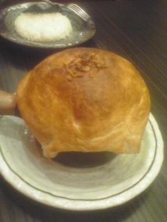 東京らっきょブラザーズ シーフードのパイ包みスープカレー