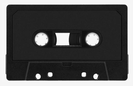 カセットテープ 黒
