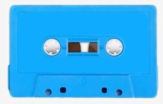 カセットテープ 青