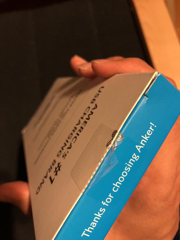 AnkerのUSBケーブルはパッケージが開けやすい