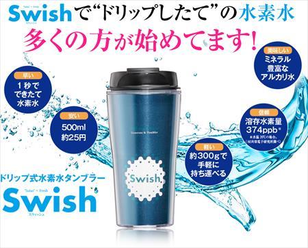 ドリップ式水素水タンブラーSwishの口コミと評判まとめ