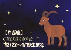 2017年の開運12星座星占い やぎ座