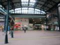 横川駅。爽やかな朝。
