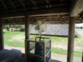 水噴射式扇風機が何台か設置されている。超涼しい!