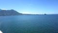 島原から熊本への洋上の眺め。