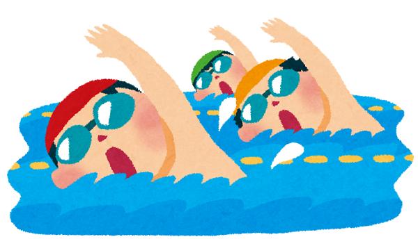 水泳の才能がある子供たち