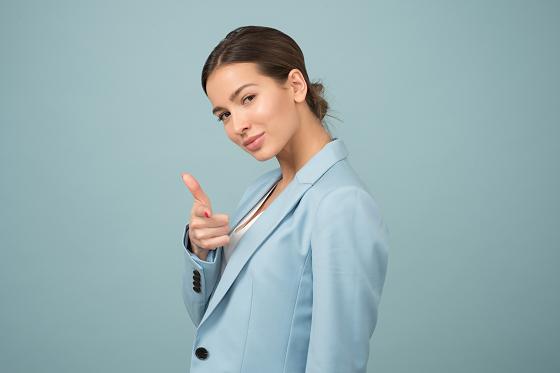 根拠のない自信を持つ女性