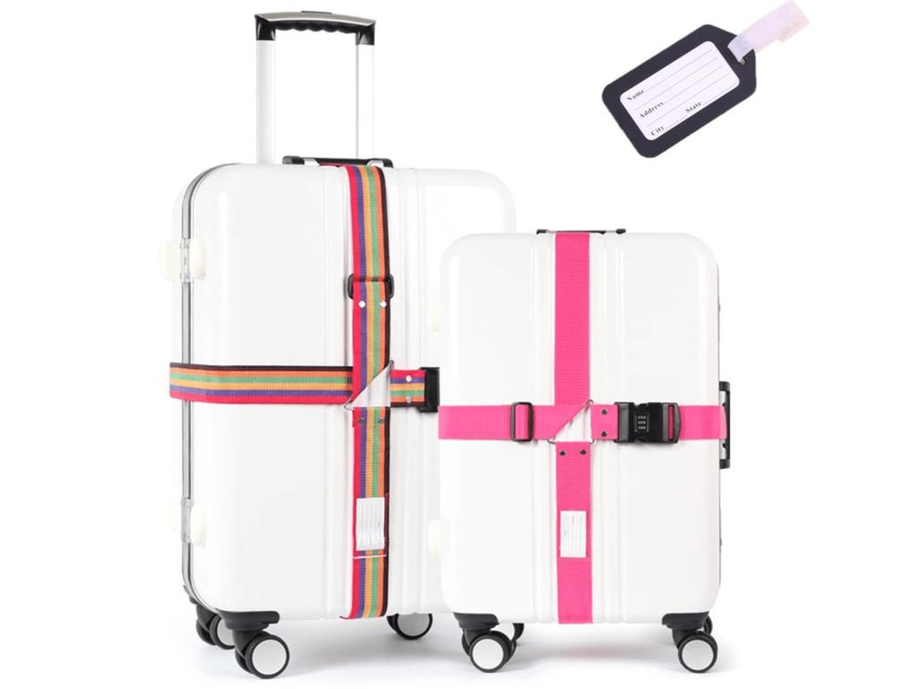 十字式のスーツケースベルトの画像