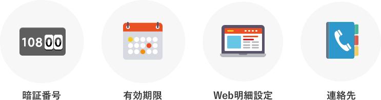 暗証番号・有効期限・web明細設定・連絡先を必ず確認しておきましょう!