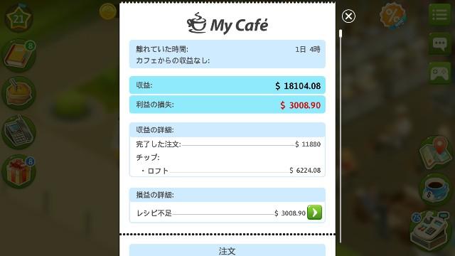 f:id:thecongress:20180530135844j:image 28時間放置した後のカフェの収入