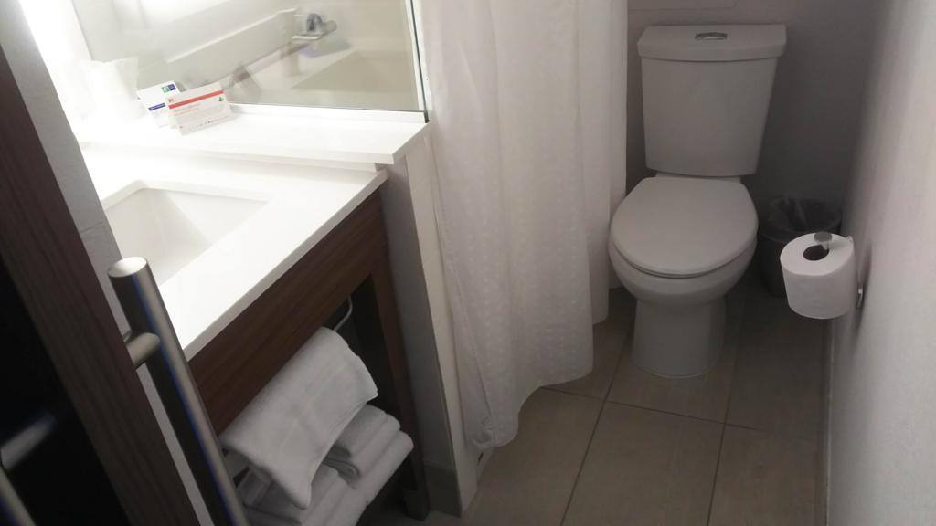 f:id:thecongress:20180618203003j:plain ホリデイインエクスプレスワイキキのバスルームの内装