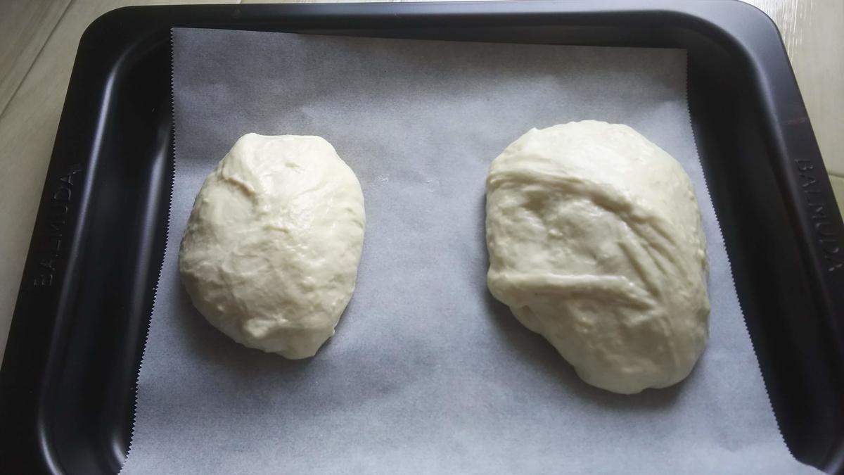 2次発酵後のパン生地