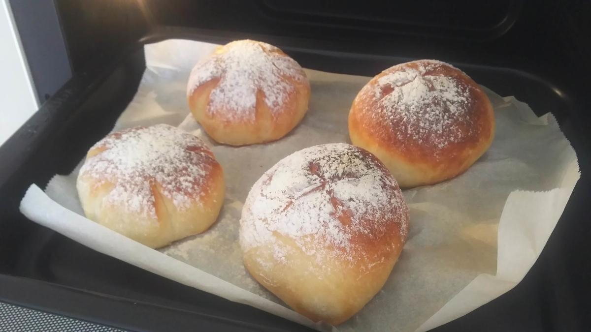 同じレシピのパン生地を4等分にして焼いたパン