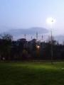 海側から見た早朝のモスク、イスタンブール